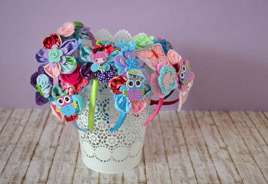 Cerchietti per bambina - fiori tra i capelli